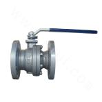 Cast steel float ball valve