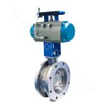 pneumatic double-eccentric spherical-sealing butterfly valve