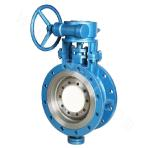 Manual drive butterfly-valve with metal hard sealing