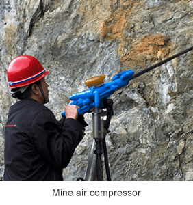 Mine air compressor